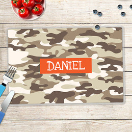 Brown Camouflage Kids Placemats