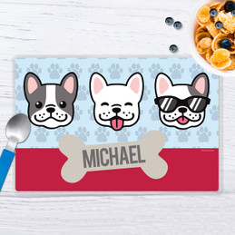 Cool Dogs Blue Kids Placemat