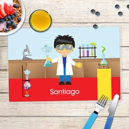 Cool Scientist Boy Kids Placemat