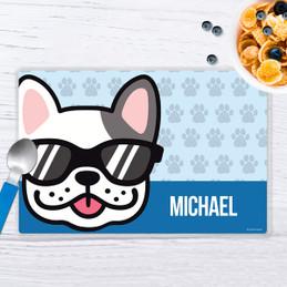 Fun & Cute Dog Blue Kids Placemat