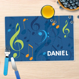Musical Notes Kids Placemats