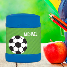 soccer fan personalized thermos food jar for kids