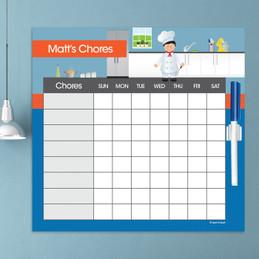 A Boys Chef's Taste Chore Chart