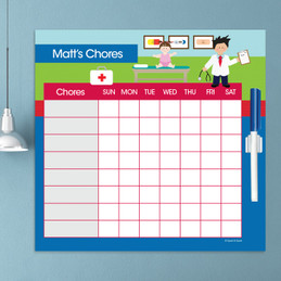 Boy Doctor's Visit Chore Chart
