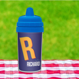 Double Initial Blue Sippy Cup