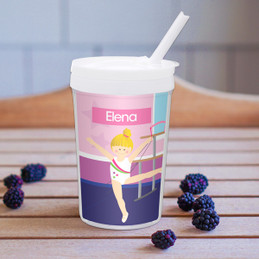 Cute Gymnast Girl Toddler Cup