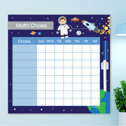Fly To the Moon Chore Chart