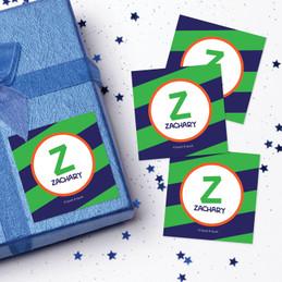 Fun Initials Green Gift Label Set
