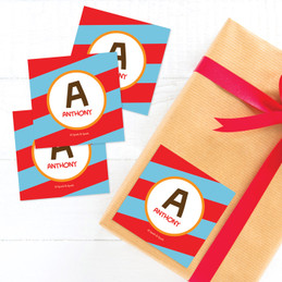 Fun Initials Red Gift Label Set