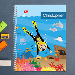 Under the Sea Boy Kids Notebook