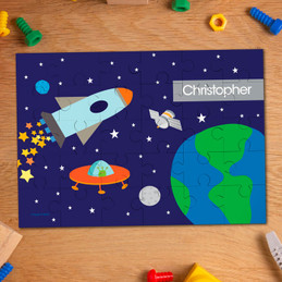 Rocket Launch Personalized Puzzles