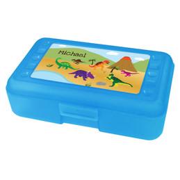 Dinosaur in the Jungle Personalized Pencil Box