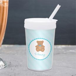 Cute Blue Teddy Bear Toddler Cup