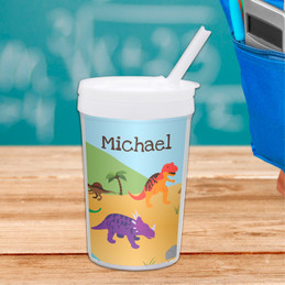 Dinosaurs In The Jungle Toddler Cup