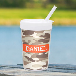 Brown Camouflage Toddler Cup