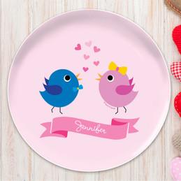 Sweet & Cute Birds Kids Plates