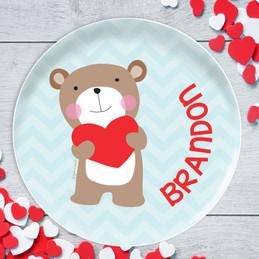 Love Bear Kids Plates