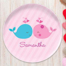 Whales in Love Kids Plates