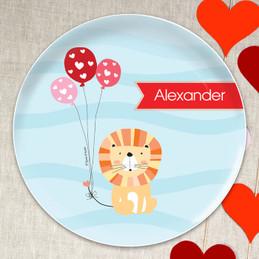 Balloon Lion Kids Plates