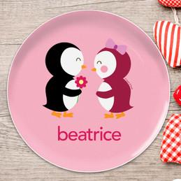 Penguins in Love Kids Plates