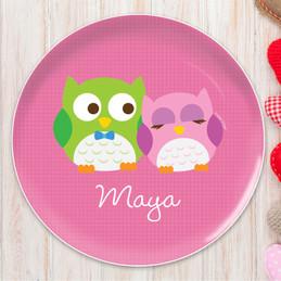 Sweet Owls Kids Plates