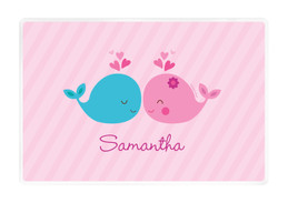 Whales in Love Kids Placemat