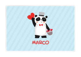Panda and Hearts Kids Placemat