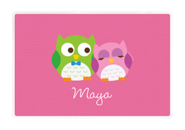 Sweet Owls Kids Placemat