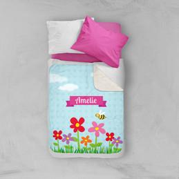 Spring Flowers Sherpa Blanket