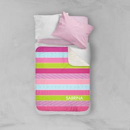 Sweet Lines Sherpa Blanket