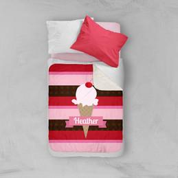 Strawberry Cone Sherpa Blanket