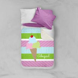Yummy Ice Cream Sherpa Blanket