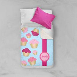 Sweet Cupcakes Sherpa Blanket