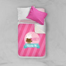 Sweet & Yummy Pink Sherpa Blanket