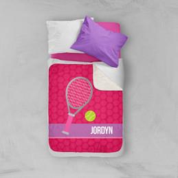 Tennis Fan Girl Sherpa Blanket