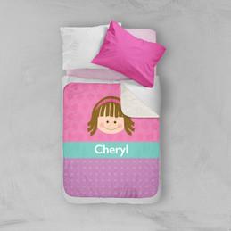 Just Like Me Girl Pink Sherpa Blanket
