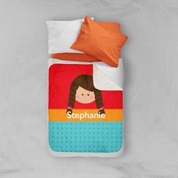 Just Like Me Girl Red Sherpa Blanket