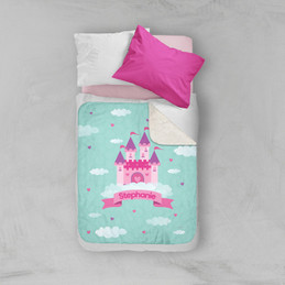 A Castle in the Sky Sherpa Blanket