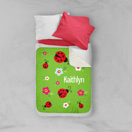 Curious Lady Bug Sherpa Blanket