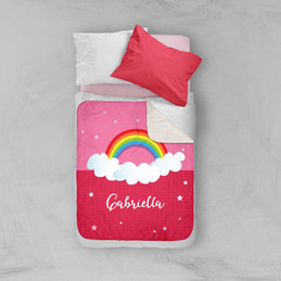 Dreamy Rainbow Sherpa Blanket