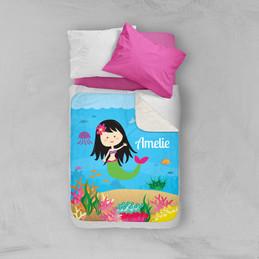 Sweet Mermaid Sherpa Blanket