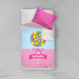 Yummy Lollipop Sherpa Blanket