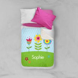 Spring Blooms Sherpa Blanket