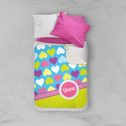 Happy Hearts Sherpa Blanket