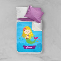 Cute Mermaid Sherpa Blanket