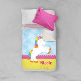 Cute Rainbow Pony Sherpa Blanket