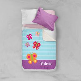 Sweet Butterfly Sherpa Blanket