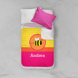 Fly Little Bee Sherpa Blanket