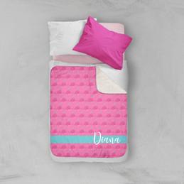 Cute Pink Whales Sherpa Blanket