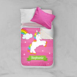 Playful Pony Sherpa Blanket